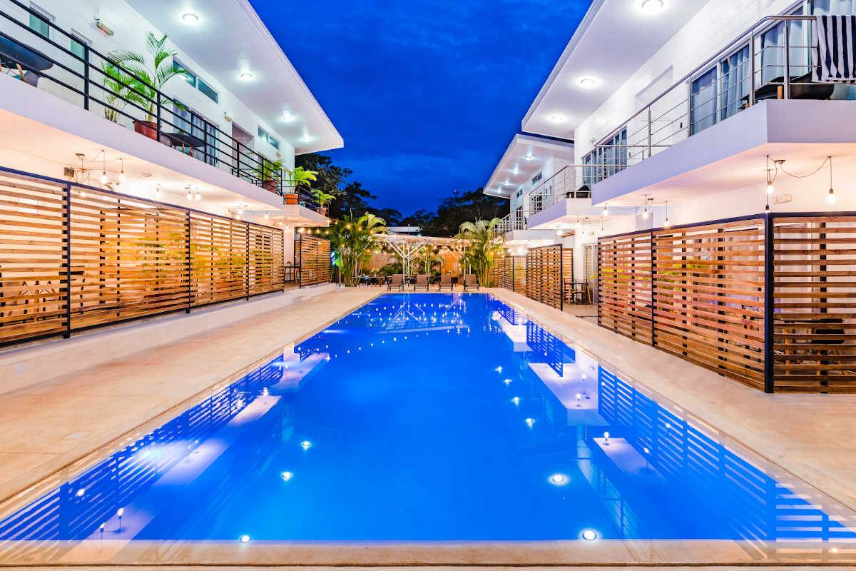 Hotel in the Shade-Modern Sleek Boutique Hotel For Sale 200 meters from Tamarindo Beach