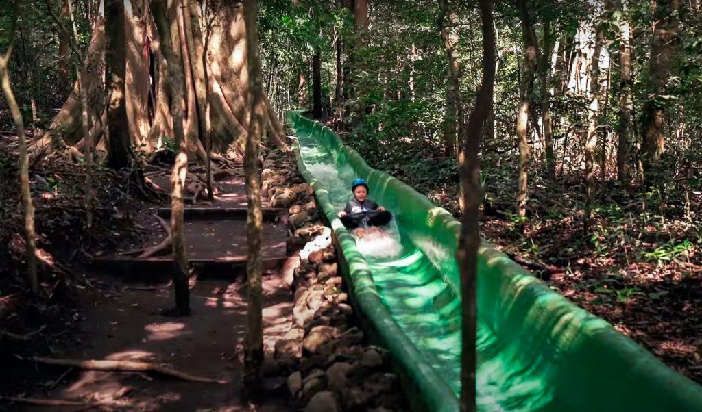 Rincon de la Vieja jungle waterslide Costa Rica