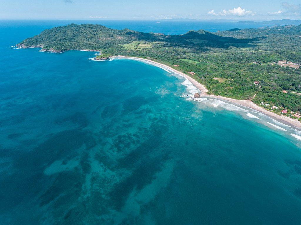 aerial view of Playa Grande Costa Rica